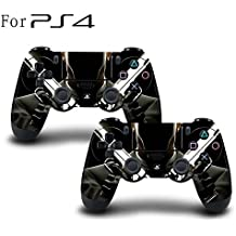 Elton PS4 Controller Designer 3M Skin For Sony PlayStation 4 DualShock Wireless Controllers (set Of Two Controllers Skin) - Hit-Man ( Standard Black, Brown )