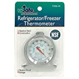 Update International THRE-30 Stainless Steel Refrigerator Thermometer 3-Inch
