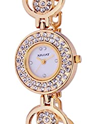 AFLOAT White Dial Analog Watch For Girls Women-AF_003