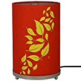 Craftter Flying Leaves Red And Yellow Round Table Lamp