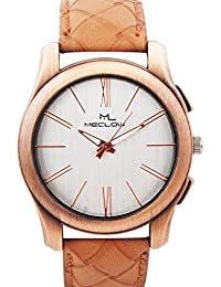 Latest Design Light Brown Leather Belt Watch, Round Metallic Brown Dial Analog Watch For Men's/Boys Classic Fashionable...