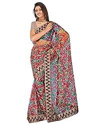 Sehgall Saree Indian Bollywood Designer Ethnic Professional Net Print With Fancy Border Saree Sari - B00OFO8S6K