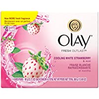 Olay Fresh Outlast Cooling White Strawberry And Mint Beauty Bar, 3.17 Ounce, 4 Count