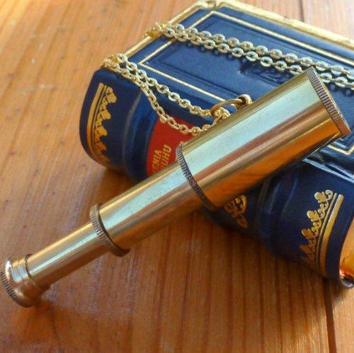 Steampunk Antique Nautical Telescope Necklace