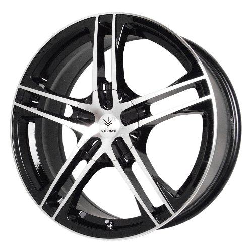 Verde Custom Wheels Protocol Black Wheel with Machined Lip (18×7.5″/5×115 mm)