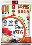 DIBAG ® - 6 Piezas (70*50 cm) Bolsas de almacenaje al vacío .Bolsas ahorradoras de espacio para ropa, edredones , mantas & almohadas