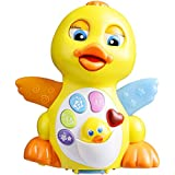 Smartcraft Musical Learning Flapping Yellow Duck , Light Up Educational Toy For Toddlers (Age 18m+ )