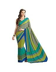 Sun Merchandise Beautiful Multi Color Crape Saree