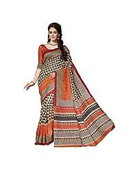 Sun Merchandise Beautiful Bhagalpur Brown Color My Sore Silk Saree