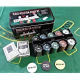 Zest 4 Toyz Texas Hold'Em Up Poker Set Casino Card Coin Game In Tin Box Safe Pack