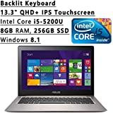 ASUS ZenBook Flagship High Performance 13.3-Inch QHD+ IPS Touchscreen Backlit Keyboard Laptop PC (Intel Core I5...