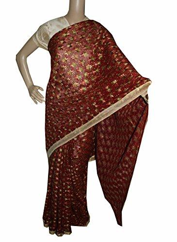 Beautiful RUDA Designer Phulkari Embroidered Saree-JS1099