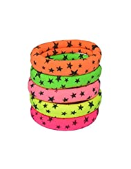 Indsights Trendsvilla Neon Collection Rubber Bands (Set Of 5) Stars