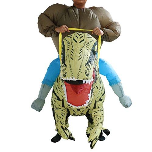 Generic Inflatable Blow Up T-Rex Riding Dinosaur Costume Party Halloween Fancy Dress Suit