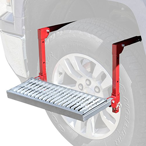 Adjustable Full Size Truck Tire Service Step – 300lb Platform