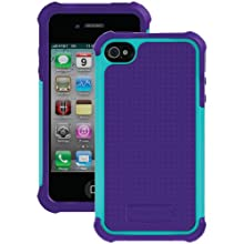 Ballistic SA0582-M015 Soft Gel Case For IPhone 4/4S - 1 Pack- Retail Packaging - Teal/Purple