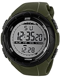 USWAT® New Men Sports Waterproof Watches Digital Watch LED Outdoor Dress Wristwatches Military Watch Relogios...