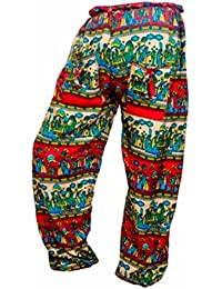 Women's Cotton Harem Pants Afghani Trousers - B06XYTCS24