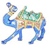 Rajgharana Handicrafts Multi Color Metal Meenakari Delightful Camel - (10 Cm X 9 Cm)