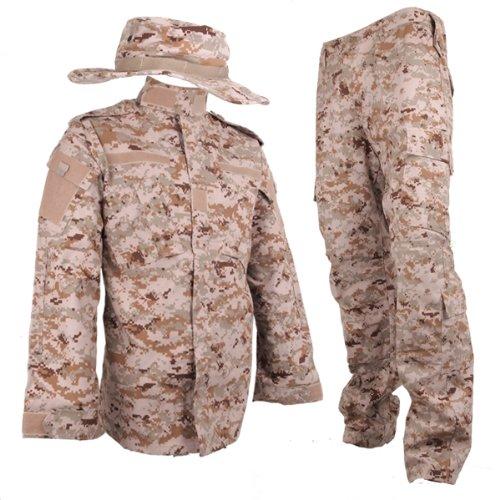 USMC デザートマーパット BDU 迷彩服 戦闘服 上下&ブーニーハットセット M