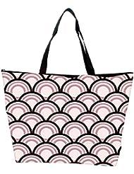 Snoogg Abstract Black Pattern Design Designer Waterproof Bag Made Of High Strength Nylon - B01I1KNE08