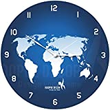 Hoopoe Decor World Map Trendy Wall Clock