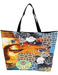 Snoogg Buddha The Future Waterproof Bag Made Of High Strength Nylon