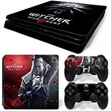 Elton The Witcher - 3 Wild Hunt Theme 3M Skin Sticker Cover For PS4 Slim Console And Controllers