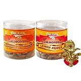 Chocholik Dry Fruits - Almonds Tandoori Masala & Lemon Pepper With Ganesha Idol - Diwali Gifts - 2 Combo Pack