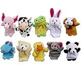 niceEshop(TM) Cute 10pcs Velvet Animal Style Finger Puppets Set +niceEshop Cable Tie
