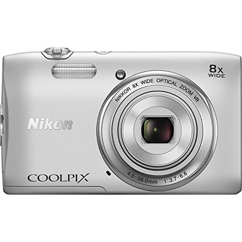 Nikon COOLPIX S3600 20.1 MP Digital Camera with 8x Zoom NIKKOR Lens and 720p HD Video (Silver)(Certified Refurbished)