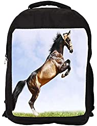 """Snoogg Abstract Horse Standing Casual Laptop Backpak Fits All 15 - 15.6"""" Inch Laptops"""
