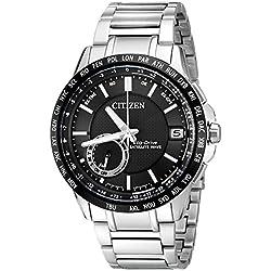 Citizen Men's CC3005-85E Satellite Wave Analog Display Japanese Quartz Silver Watch
