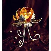 Orlando's Decor Candles Lotus Candle Holder With Golden Jar - B01KTRNL6I