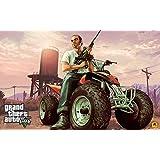 GTA - Grand Theft Auto V (O) Game Poster - 12x19 Inch Art Material