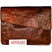 ADIMANI Vintage Leather Laptop Messenger Bag With Size 15L 12H 5B In Inches Unisex Bag