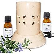 Kazima Ceramic Electric Aroma Oil Diffuser - Liquid Air Freshener For Home, Shop & Office With LemonGrass & Lavender...