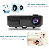 Ryham 1280*800 Portable Home Theater Projector, Support 720P, 1080I, 1080P,Built-in Speaker, Ideal For Your Camping...