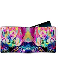 EzyPRNT Awesome Abstract Girl Face Face Printed Canvas Leather Men's Wallet