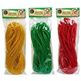 Crafters Square Christmas Decorative Mesh Tubes, 12 Yards Each Set Of 3 (red,green And Gold)