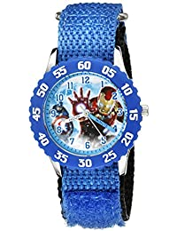 Marvel Kids' W002226 Avengers: Age Of Ultron Captain America And Iron Man Blue Watch