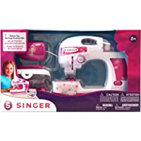 Nkok Singer Deluxe Toy Sewing Machine With Sewing Kit Set