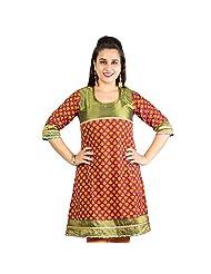 Rama Designer Cotton Multi Printed Knee Length Kurti (14RAMA1421083)