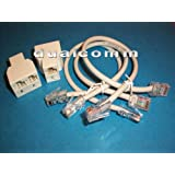 Ethernet RJ45 Splitter Cable Sharing Kit For Networking Computer And VoIP ATA