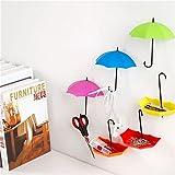 Creative 3PCS/set Umbrella Shape Clothes Key Hat Holder Wall Hook Colorful Home Decoration Shelves Hanger Rack