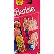 1989 Barbie Dreamwear Pink & White Stripe Baby Doll Set