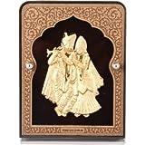 Siri Creations 24kt Gold Foil Radha Krishna Frame Showpiece - 9 Cm