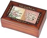 Cottage Garden Mom Mother Woodgrain Petite Rose Music Jewelry Box Plays Amazing Grace