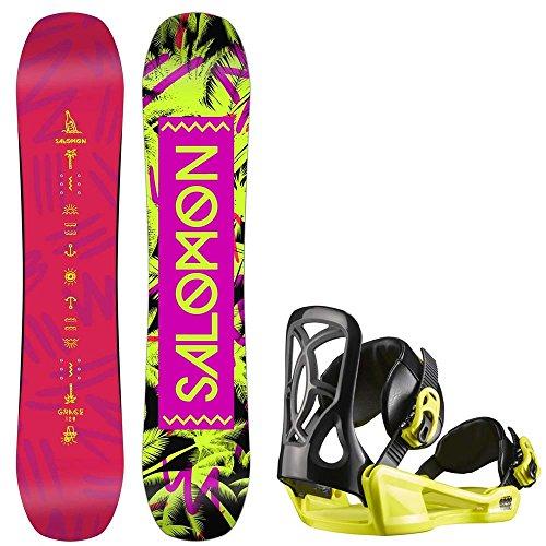 Kinder Freestyle Snowboard Set Salomon Grace 110 +Goodtime Xs 2017 Girls Snowboard Set
