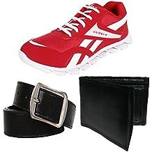 Berasche Men COMBO Pack Of 3 Pair Canvas Sports Shoe With Belt & Wallet